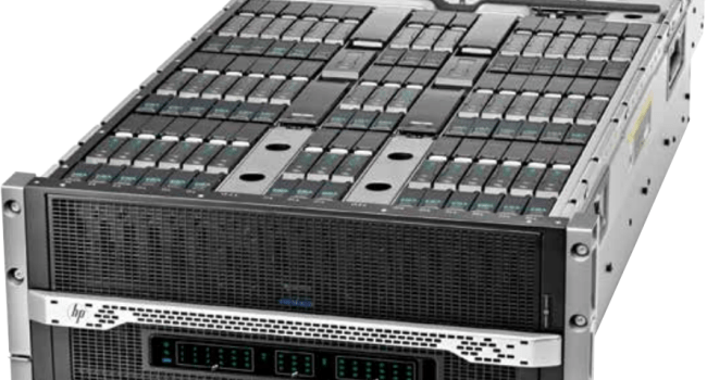 The servers are in a 6x3x6 layout, with two networking modules sandwiching the middle 3