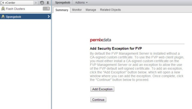 Adding a security exception for FVP