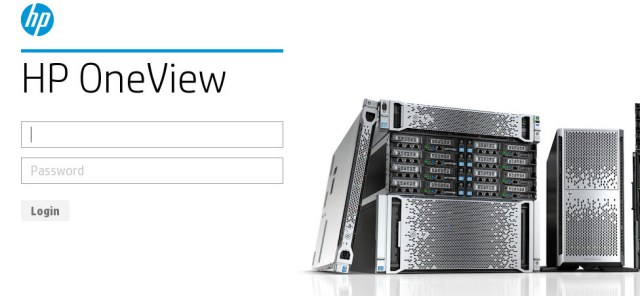 The OneView appliance login page