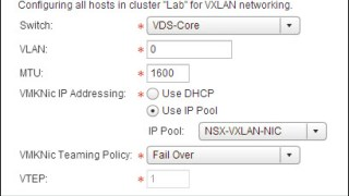 The configuration used for VXLAN