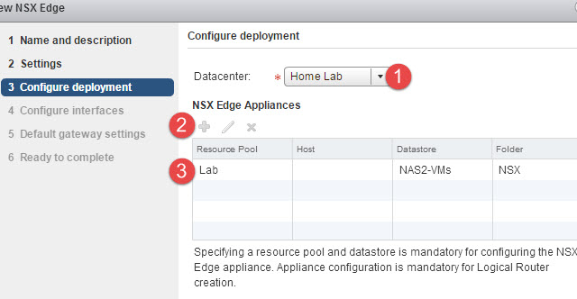 Logical Router Deployment
