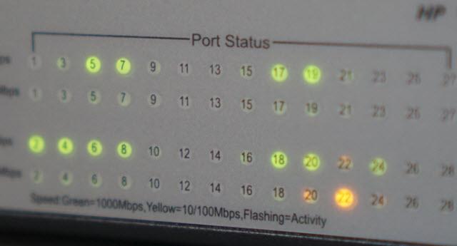 HP Port Status Panel