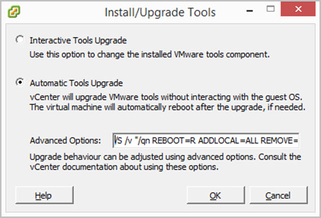VMware Tools Upgrade