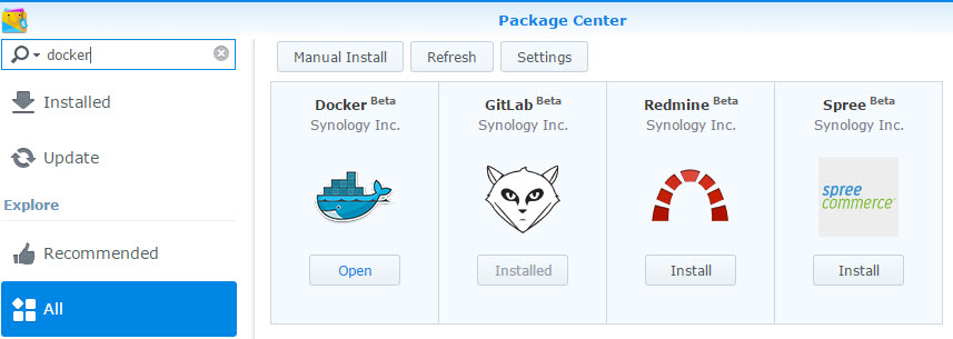 Running GitLab and Jenkins Containers on Docker in Synology