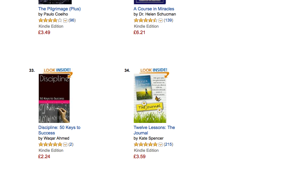 Discipline: 50 Keys to Success - enters the Amazon Best sellers list (2/2)