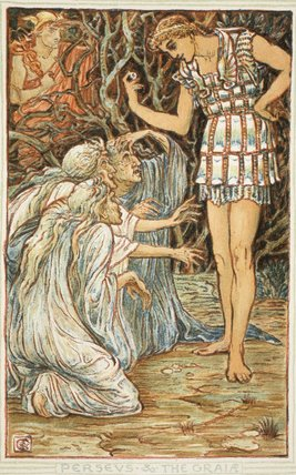 Perseus And The Graia by Walter Crane (1845-1915, United Kingdom ...