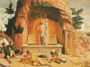 résurrection, 1460 de Andrea Mantegna (1431-1506, Italy ...