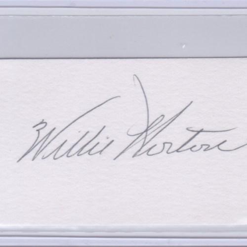 Willie Horton Cut Autograph