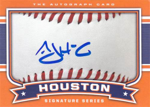 AJ Hinch signed signature card