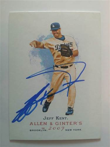 Jeff Kent signed 2007 Allen and Ginter