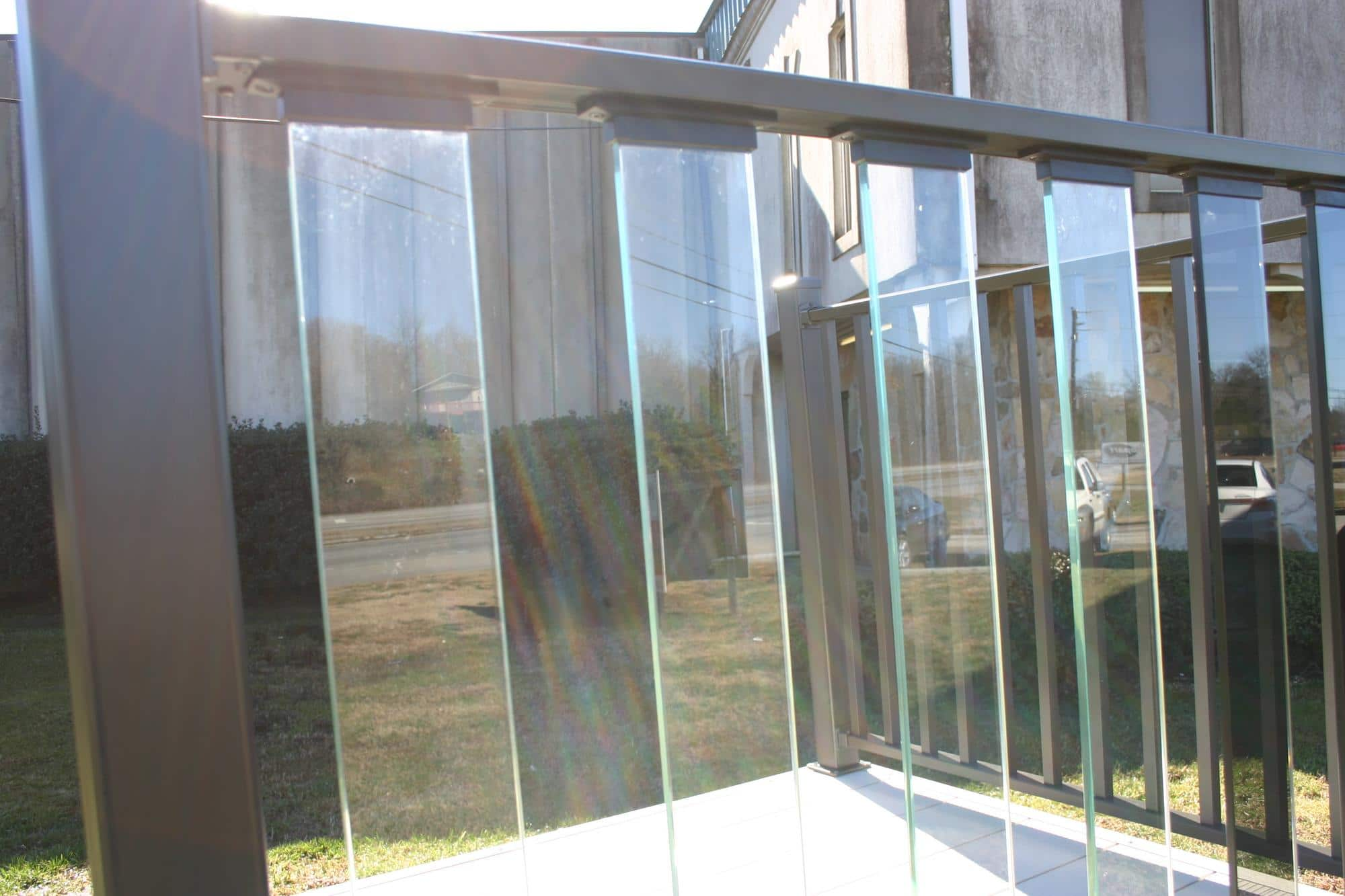 Glass railings for decks - Glass Panel Railing Components Profiles