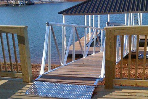 aluminum docks - safer gangways on dock designs