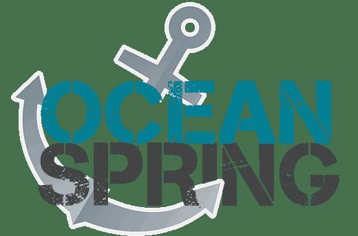 ocean spring dock anchoring logo med