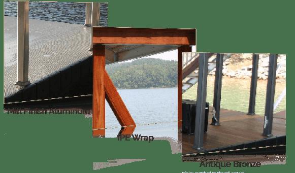 Wahoo Aluminum Docks Dock Frame Poles