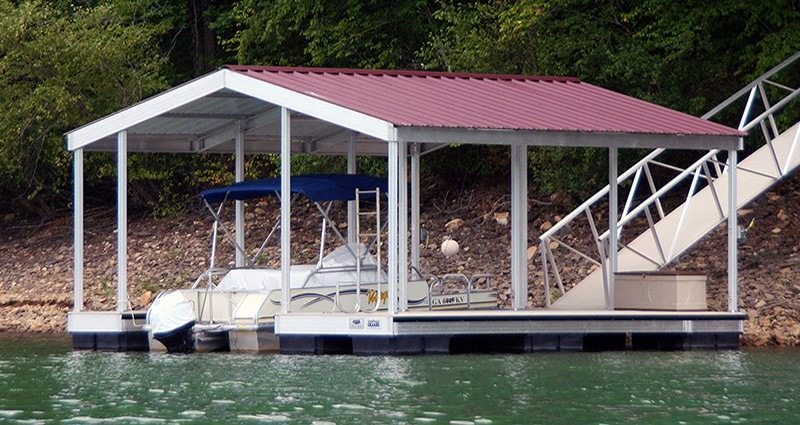 wahoo aluminum docks gable roof docks gallery 01