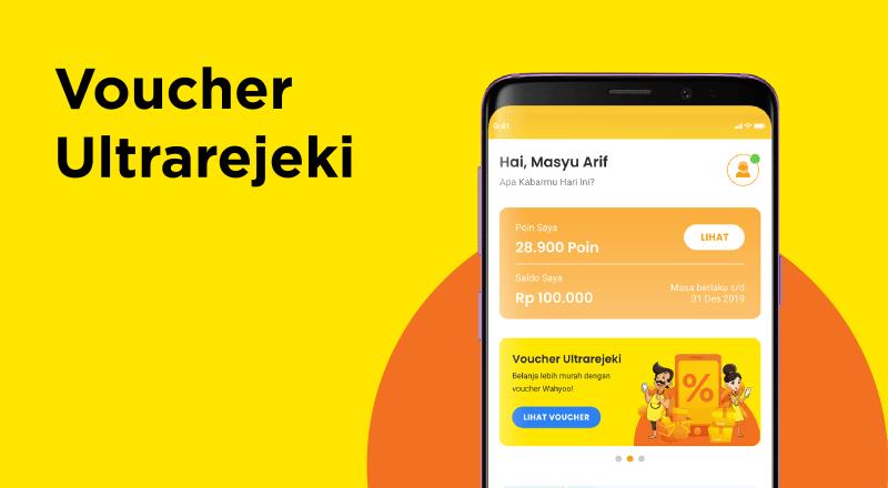 Fitur Voucher Ultrarejeki aplikasi Wahyoo Warung
