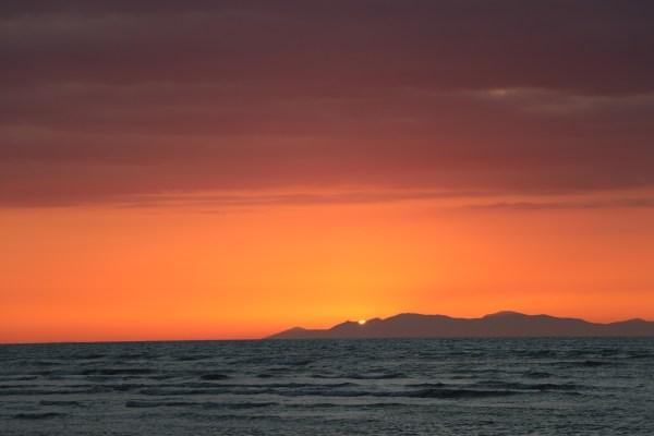 14 January 2018 sunset photo by Barry Jordan.