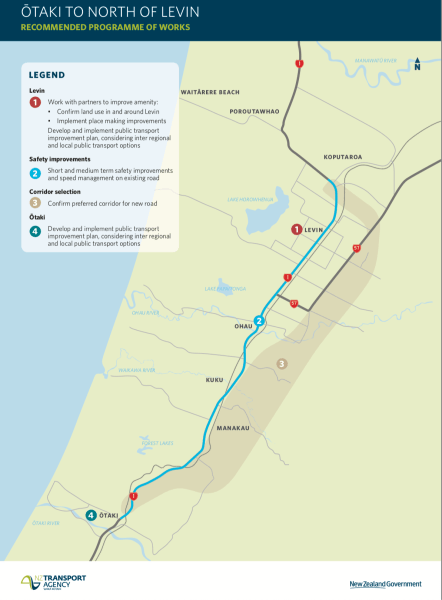 Plans to improve safety and resilience of Ōtaki to north Levin .
