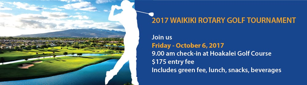 Waikiki Rotary Golf Tournament 2017