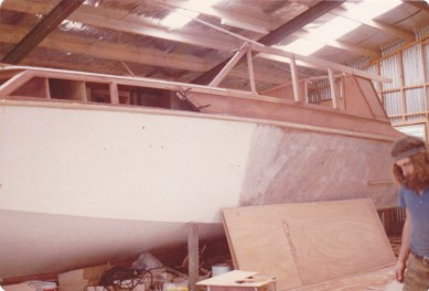 UNDER CONSTRUCTION B JONES SHED MATAKANA 1979