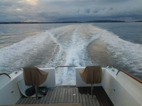 W1 AT 22.5 KNOTS GOING BACK TO BAYSWATER AFTER TLC AT GULF HARBOUR 29.5.15