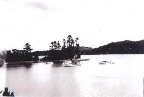 Christmas 1939. Muddy Bay Kawau. Te Rauparaha (fwd)