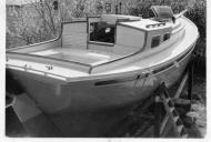 Maroro - ready for launching, in Whangarei at 15 Rust Ave 02, 1957