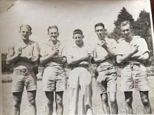 Aruther,Les,Bob,Col,Eric - Kamo Mineral Springs Dec 1938 > Jan 1939