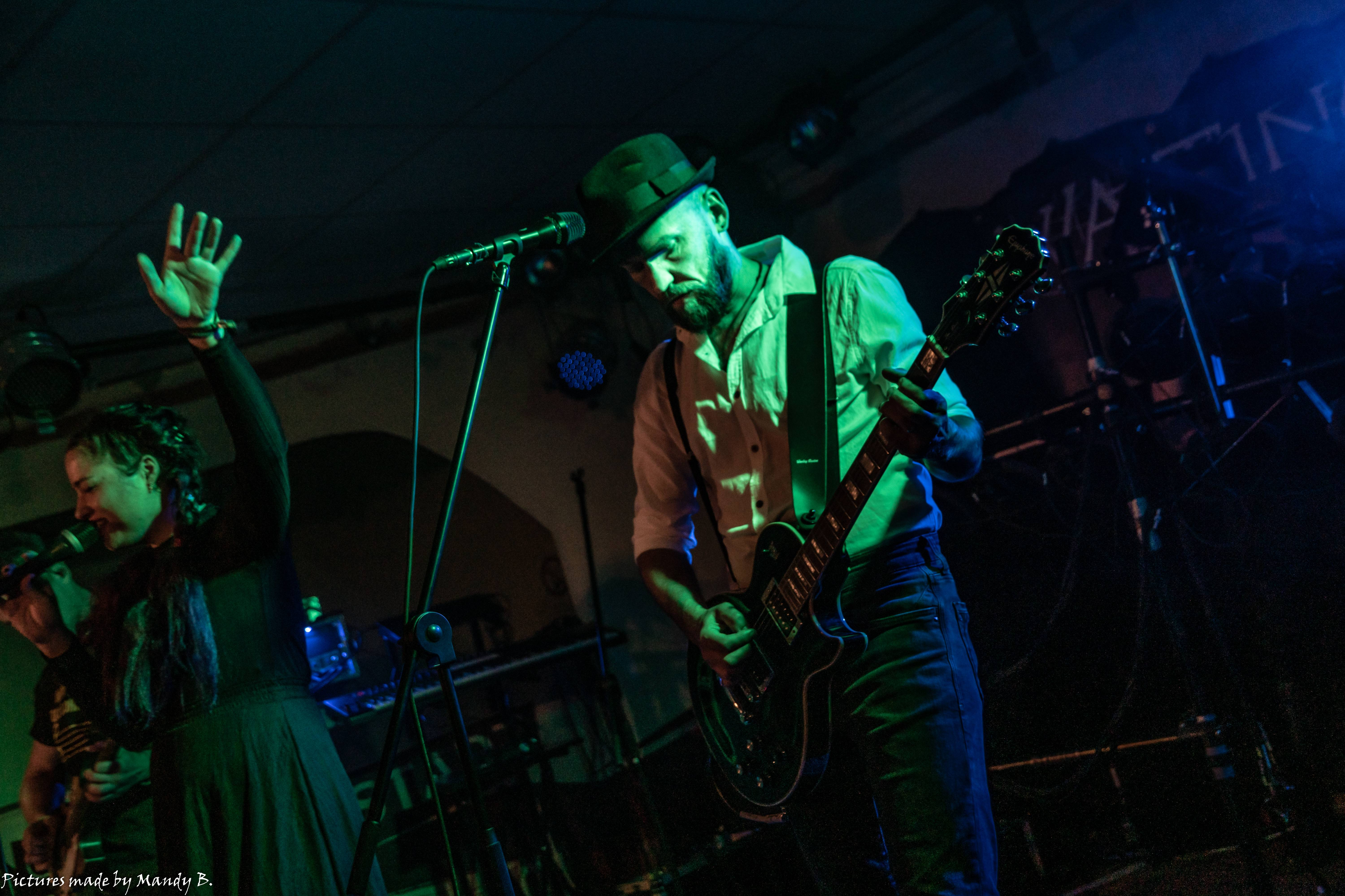 San Dra and Sebo of Waiting in Vain at Club Eule in Dresden on 20 September 2019