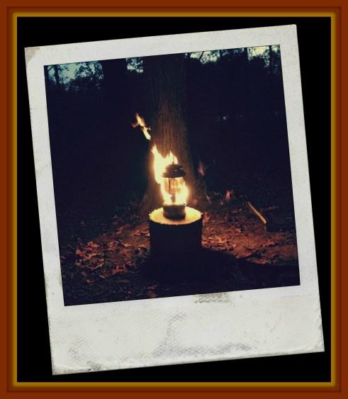lantern on fire