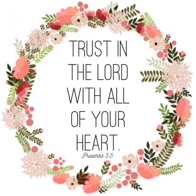 trust in the Lord free printable