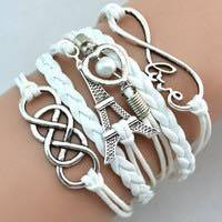 paris white infinity bracelet