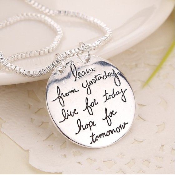 Live the life you love necklace