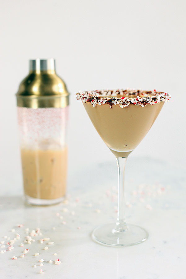 Chocolate Peppermint Bark Martini