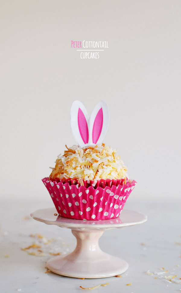 Peter Cottontail Toasted Coconut Easter cupcake recipe, Waiting On Martha