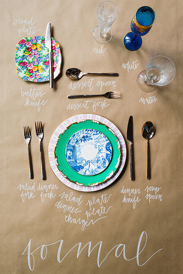 formal place settings