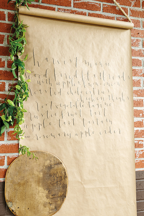 Harvest Dinner Menu, Waiting On Martha || Hand Lettering Yes Ma'am Paper Goods