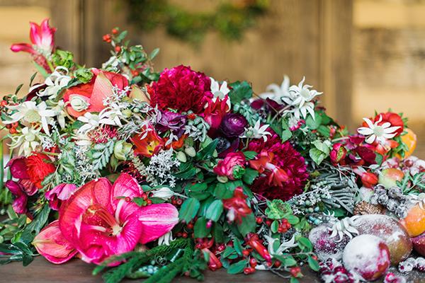 Holiday floral arrangement, Waiting on Martha