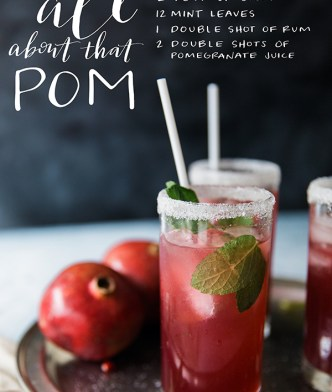 All About That Pom, Pomegranate Cocktail Project Sip | Waiting On Martha
