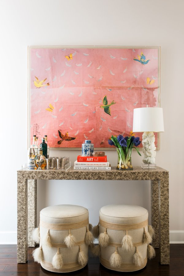 Console Table Styling in One Room Challenge Week Three, Waiting on Martha