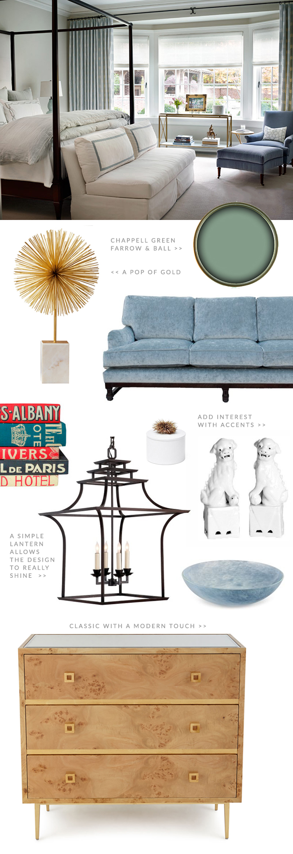 Classic, Yet Modern Home Inspiration + Chappell Green paint color