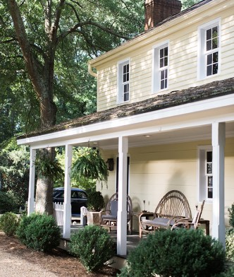 Light yellow farmhouse in Athens, GA | Waiting on Martha