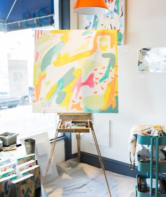 Playful abstract art for sale in Athens, GA | Waiting on Martha