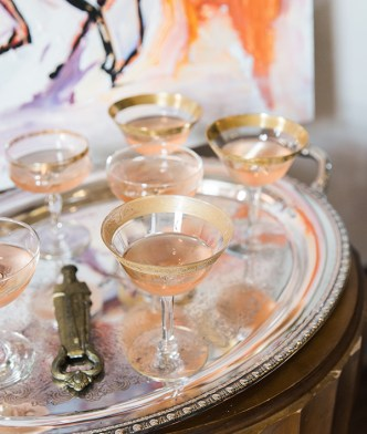 Vintage glasses perfect for entertaining | Waiting on Martha
