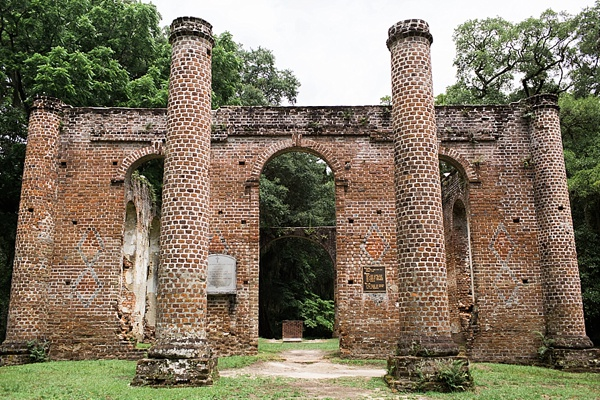 Old Sheldon Church Ruins in South Carolina