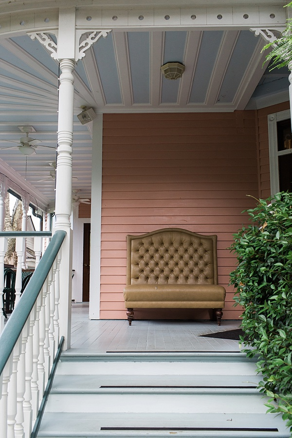 The Beaufort Inn's front porch details, Waiting on Martha