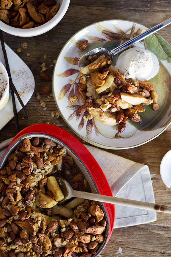 A Healthy Apple Crisp with Hearty Pear and Nourish Snacks for the Crunch! | Waiting on Martha
