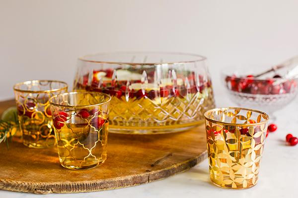 Holiday Sparkling Sangria Cocktail Recipe via Waiting on Martha