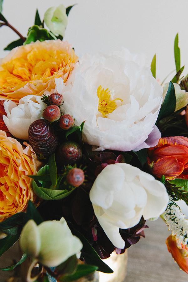 Wintery floral arrangement ideas via Waiting on Martha