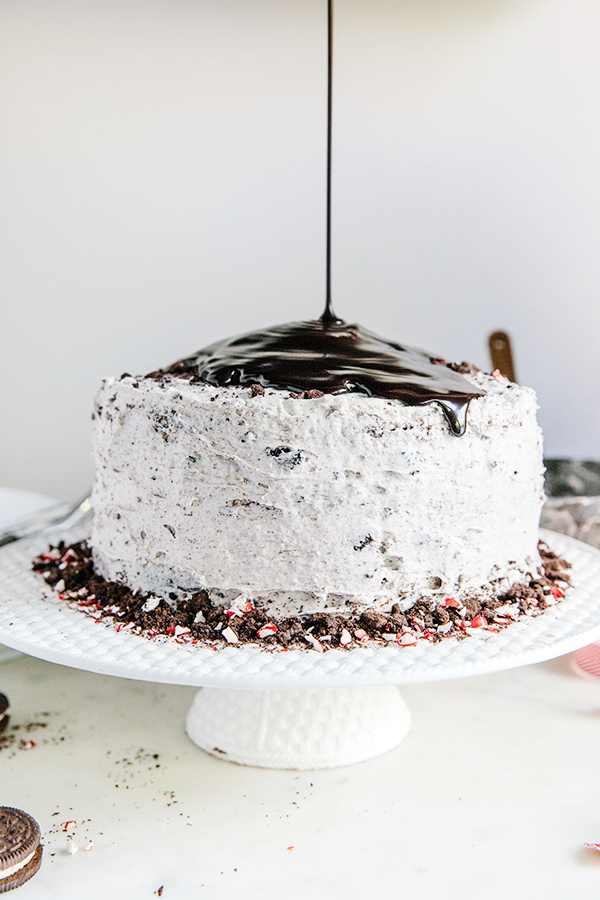Chocolate Peppermint Buttercream Cookie Cake and all groceries delivered to the front door by @Shiptgroceries(!!!) Via Waiting on Martha #ad #recipe